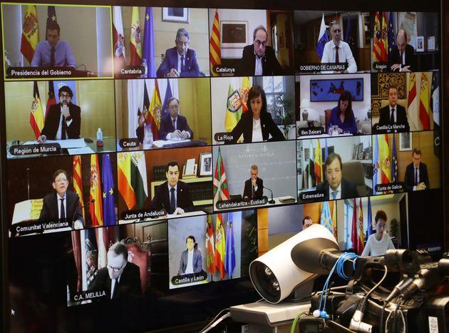 Encuentro de los presidentes autonómicos con el presidente del Gobierno, el pasado 12 de