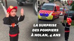 Pendant le confinement, la surprise des pompiers de Pégomas à Nolan, 4