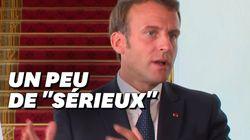La pique à peine voilée de Macron à Trump sur les