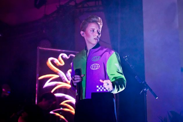 Elly Jackson of La Roux performs live on stage during a concert at the Metropol on Feb. 15, 2020 in Berlin,