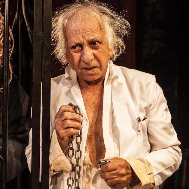 Flávio Migliaccio na última peça em que atuou,