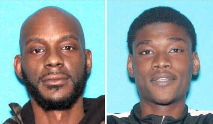 Larry Edward Teague, 44, and Ramonyea Travon Bishop, 23, are wanted in the shooting death of a Family Dollar security guard.
