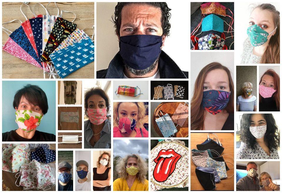 """Le masque est devenu un objet à travers lequel les Français s'expriment. Certains et surtout certaines ont pallié la pénurie de masques industriels en ressortant machines à coudre et chutes de tissus. """"La société française a fait de cette contrainte une opportunité, elle a fait société autour de ce projet"""", analyse Fanny Parise, anthropologue."""