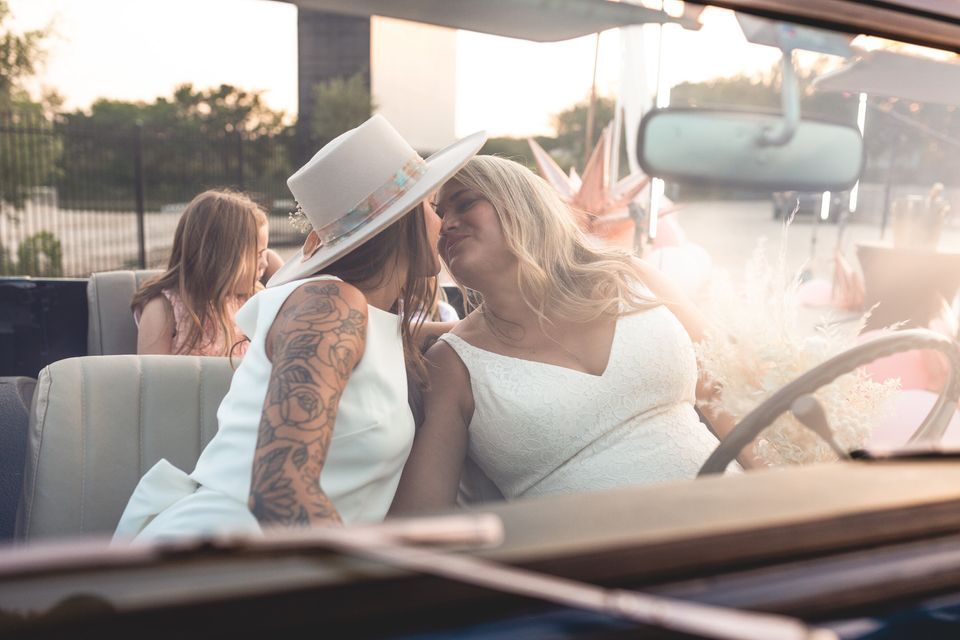 Instead Of Canceling, This Couple Had A Socially Distant Drive-In Wedding