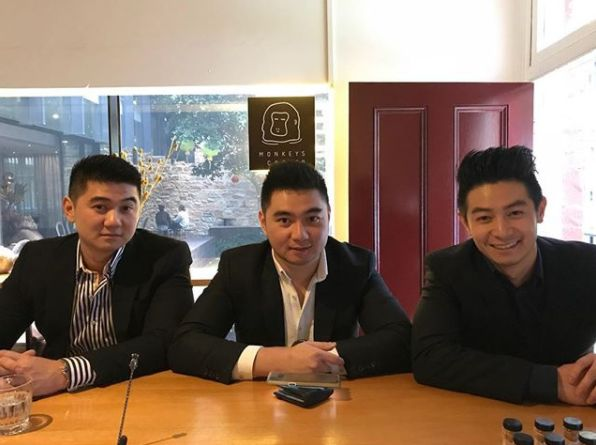 'MasterChef Australia: Back To Win' contestant Reynold Poernomo with brothers Arnold and Ronald
