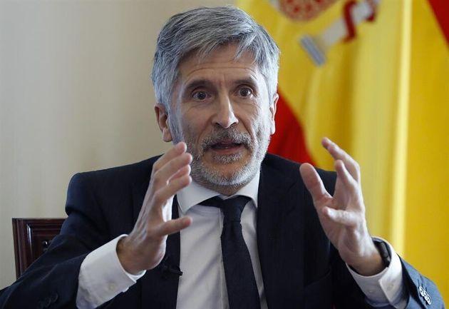 El ministro del Interior, Fernando Grande-Marlaska, en una entrevista telemática con Efe, hace un llamamiento...