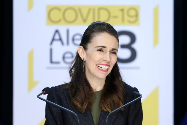 NZ Prime Minister Jacinda Ardern speaks to media during a press conference at Parliament on May 05, 2020...