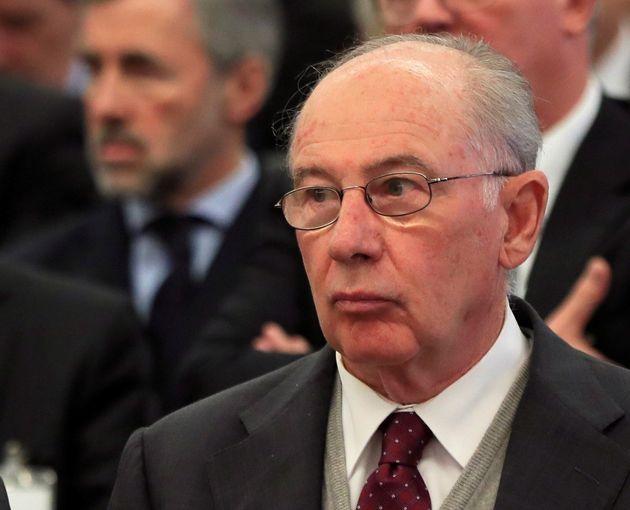 El expresidente de Bankia Rodrigo Rato durante la primera sesión del juicio por la salida a Bolsa...