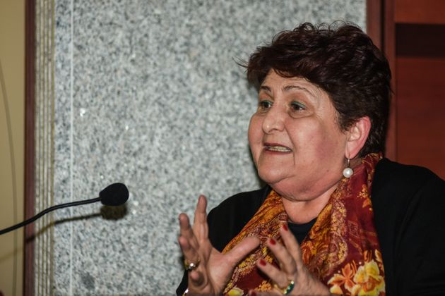 The Minister of Agriculture and national coordinator of the political party Italy Viva Teresa Bellanova...