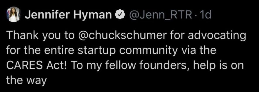 Hyman deleted this tweet, which she posted shortly after laying off a significant portion of her staff.