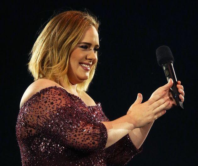 La cantante Adele, durante un concierto en Adelaida (Australia) el 13 de marzo de 2017 (Morne de Klerk/Getty