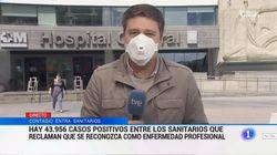 Un periodista de TVE denuncia las amenazas que recibió antes de entrar en directo:
