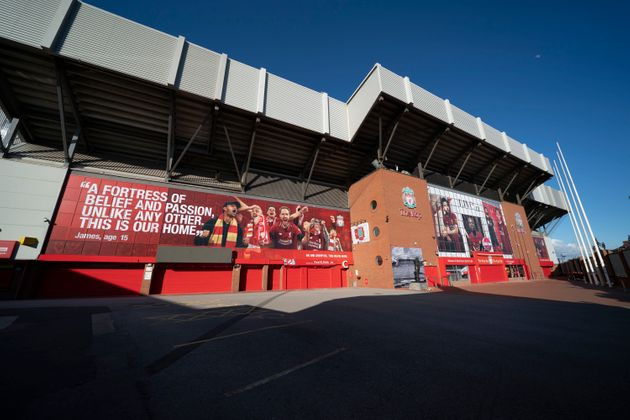리버풀의 홈 경기장 앤필드. 리버풀은 남은 9경기에서 2경기만 더 이기면 자력으로 30년 만의 우승을 확정지을 수 있는