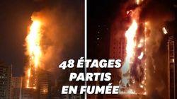 Aux Émirats Arabes Unis, une tour de 48 étages part en
