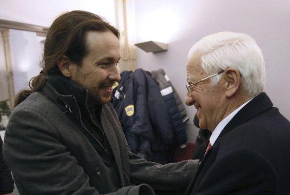 Pablo Iglesias y el padre