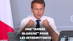 Macron veut prolonger les droits des intermittents jusqu'en août