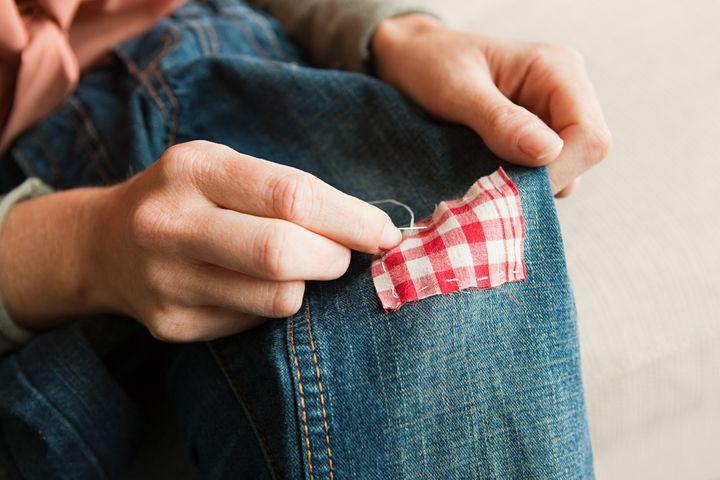 Learn a few mending basics to fresh those hole-y pants.