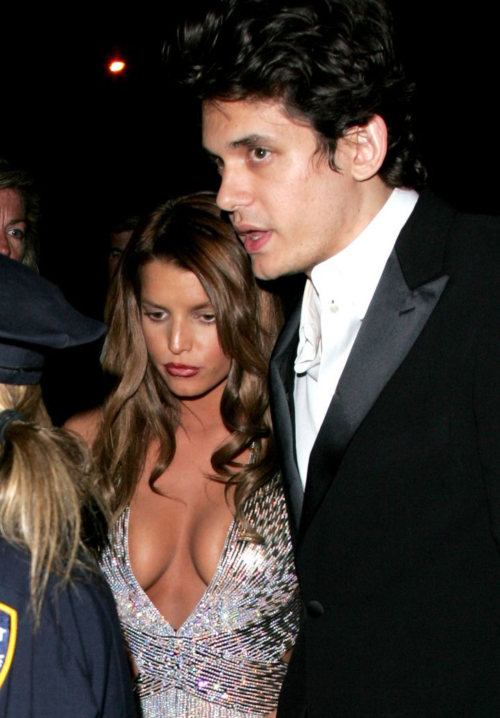Jessica Simpson and John Mayer attend the