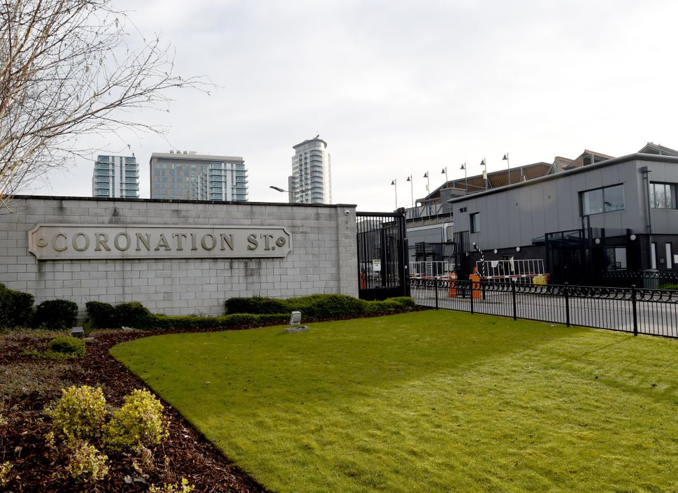 Filming has halted at the Coronation Street studio at Media City in Salford,
