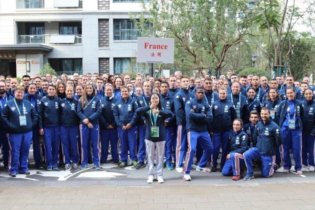 Délégation français des Jeux mondiaux militaires d'été qui se sont...