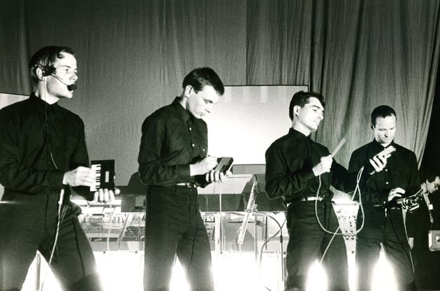 Florian Schneider, second from left, with