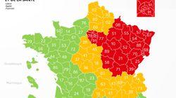 278 décès en 24h, un département passe en vert sur la carte du