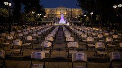 Διαμαρτυρία των επαγγελματιών εστίασης με άδειες καρέκλες σε πλατείες της