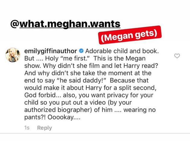 Author Emily Giffin Unleashes On Meghan Markle Over Archie's Birthday