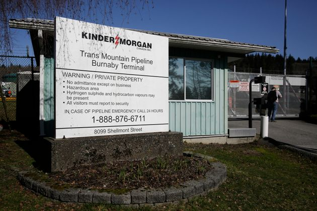 Kinder Morgan's Trans Mountain Pipeline Burnaby Terminal is pictured in Burnaby, B.C. on March 10,