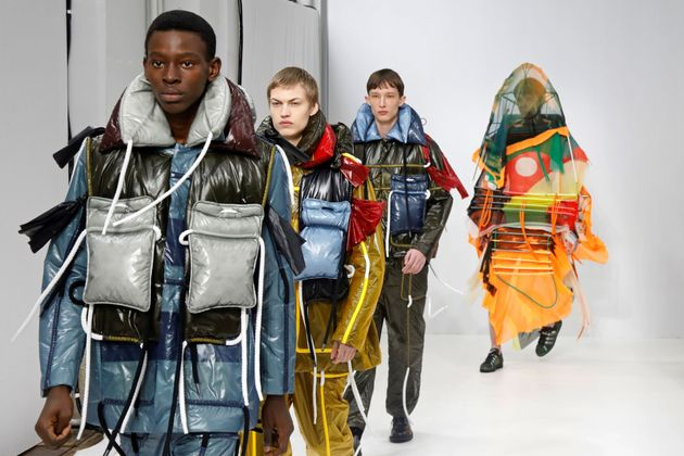 Models present creations by designer Craig Green as part of his Fall/Winter 2020/2021 collection show...