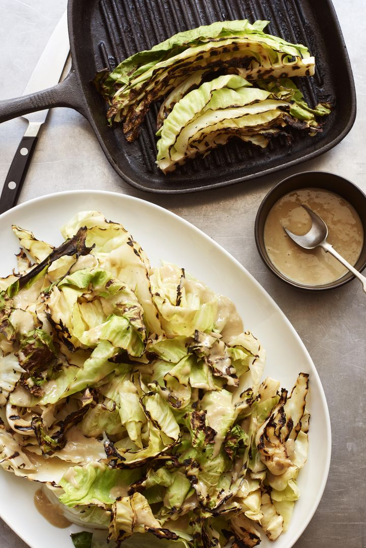 Grilled hispi cabbage