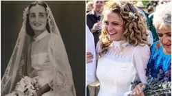 12 Beautiful Brides Who Wore Their Mum Or Grandma's Wedding