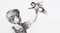 Banksy: Νέο έργο σε νοσοκομείο στη Βρετανία - Το αγόρι και η νοσηλεύτρια σούπερ