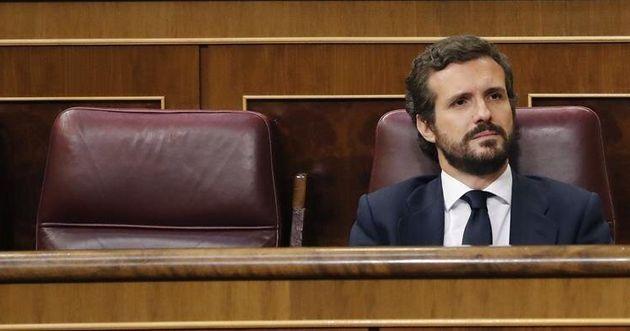 Pablo Casado el miércoles en el