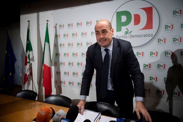 ROME, ITALY - FEBRUARY 13: General Secretary of Democratic Party (PD) Nicola Zingaretti attends a press...