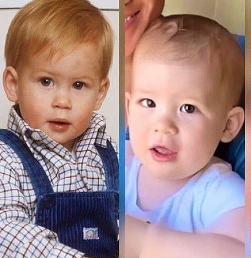 Archie e il principe Harry a confronto: la somiglianza è