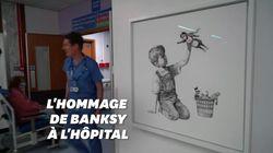 Banksy fait des soignants les nouveaux super-héros dans sa dernière