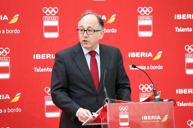 Luis Gallego, consejero delegado de Iberia, en un acto en