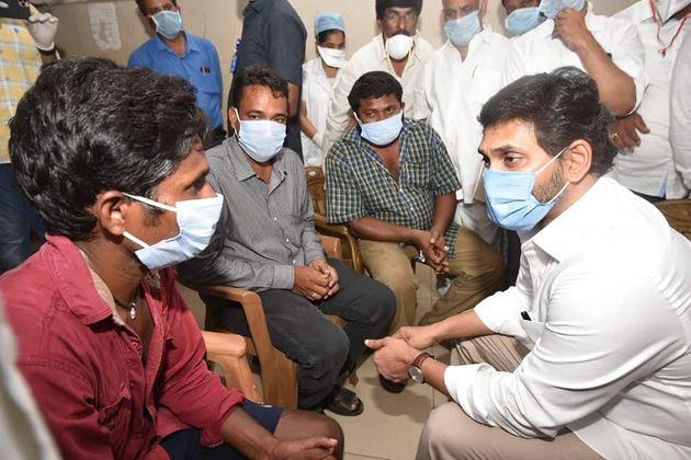CM YS Jagan Mohan Reddy meets victims of Vizag gas