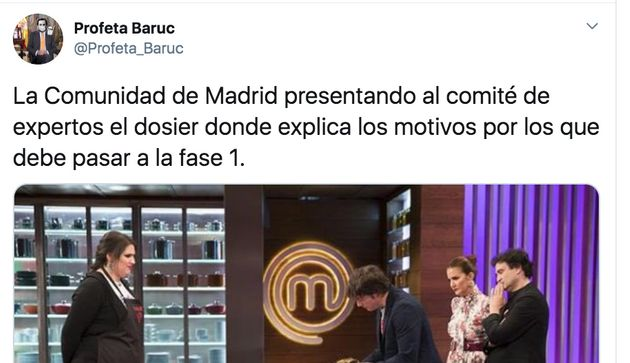 Cachondeo en Twitter con la petición de Madrid de pasar a la fase