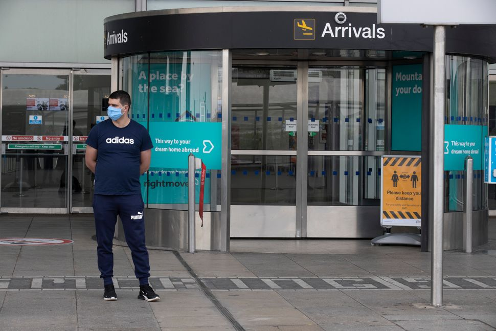 Arrivals at London Stansted Airport.