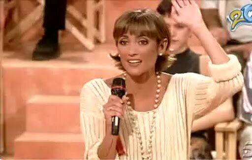 Ana García Lozano en su programa de televisión.