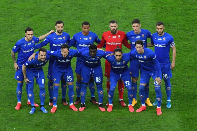 UDINE, ITALY - MARCH 08:ACF Fiorentina players line up during the Serie A match between Udinese Calcio...