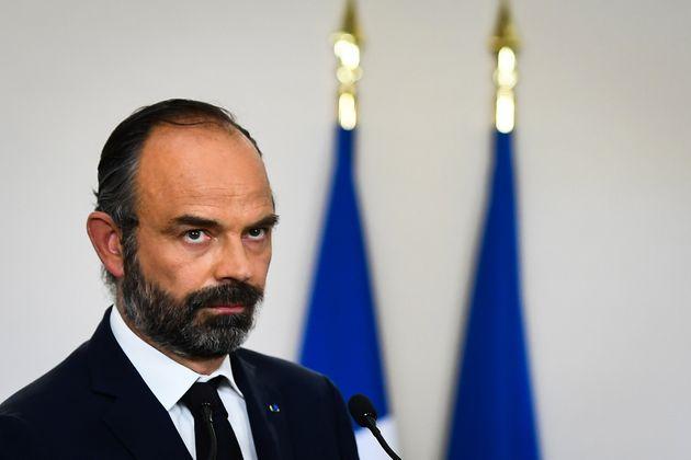 Édouard Philippe, ici lors de la conférence de presse de présentation du plan de...