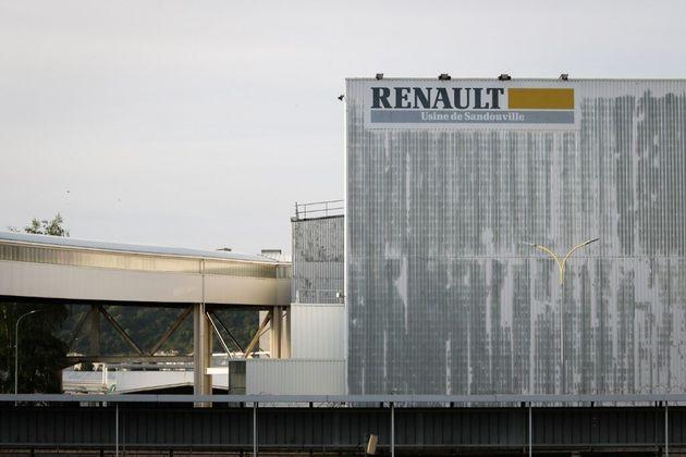 L'entrée de l'usine Renault de Sandouville, dont la justice a ordonné la fermeture ce 7