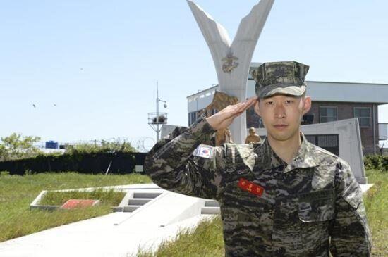 손흥민 해병대 훈련