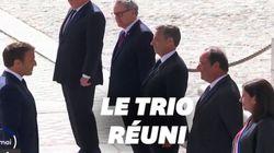Macron, Hollande et Sarkozy réunis pour un 8 mai à huis