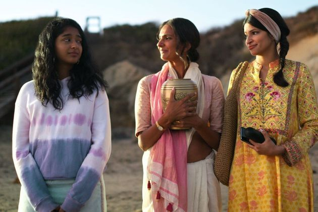 Maitreyi Ramakrishnan, Poorna Jagannathan and Richa Moorjani in 'Never Have I Ever'
