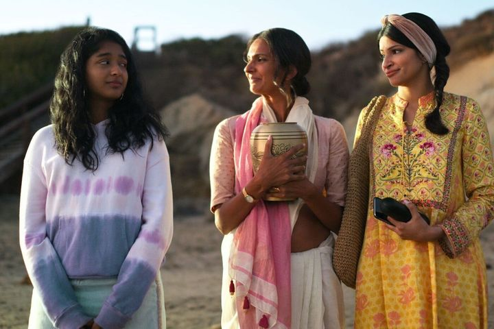 Maitreyi Ramakrishnan, Poorna Jagannathan and Richa Moorjani in 'Never Have I Ever'