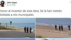 Lo que se han encontrado unos policías en una playa está dando mucho que hablar en